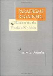 Cover of: Paradigms regained