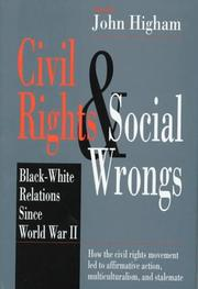 Cover of: Civil rights and social wrongs