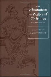"Cover of: The ""Alexandreis"" of Walter of Chatilon"