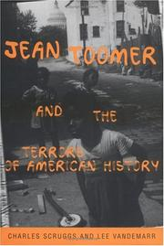 Cover of: Jean Toomer and the terrors of American history | Charles Scruggs