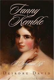 Cover of: Fanny Kemble