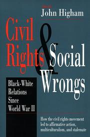 Cover of: Civil Rights & Social Wrongs