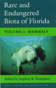 Cover of: Rare and endangered biota of Florida