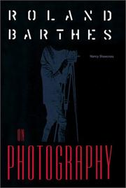 Cover of: Roland Barthes on photography
