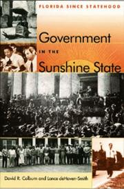 Cover of: Government in the sunshine state