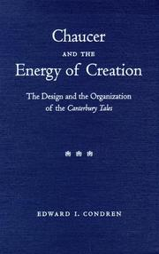 Cover of: Chaucer & the Energy of Creation