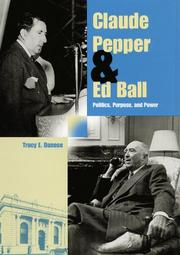 Cover of: Claude Pepper and Ed Ball