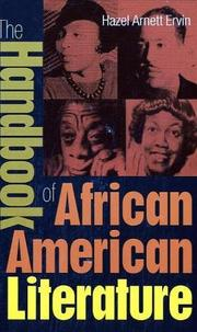 Cover of: The handbook of African American literature | Hazel Arnett Ervin