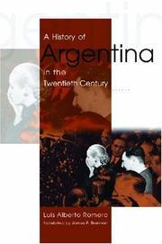 Cover of: A History of Argentina in the Twentieth Century