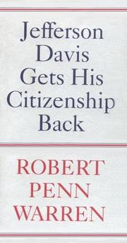 Cover of: Jefferson Davis Gets His Citizenship Back