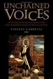 Cover of: Unchained Voices | Vincent Carretta
