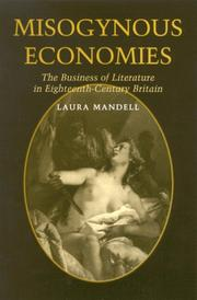 Cover of: Misogynous economies | Laura Mandell