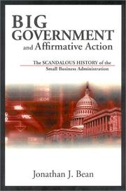 Cover of: Big Government and Affirmative Action