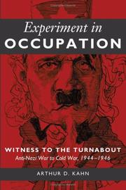 Cover of: Experiment in Occupation