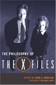 Cover of: The Philosophy of the X-Files (The Philosophy of Popular Culture) |