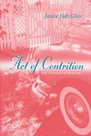 Cover of: Act of contrition