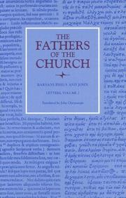 Cover of: Letters (Fathers of the Church) | Saint Barsanuphius