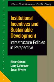 Cover of: Institutional incentives and sustainable development