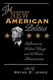 Cover of: The new American politics |