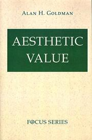 Cover of: Aesthetic value