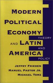 Cover of: Modern political economy and Latin America