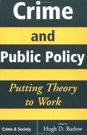 Cover of: Crime and Public Policy