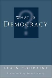 Cover of: What is democracy?