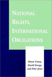 Cover of: National rights, international obligations |