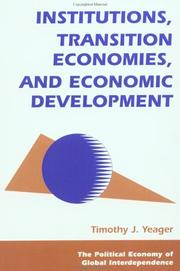Cover of: Institutions, transition economies, and economic development