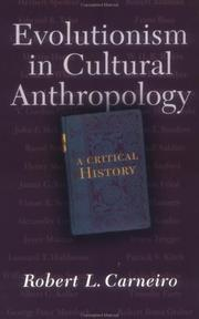 Cover of: Evolutionism in Cultural Anthropology | Robert L. Carneiro
