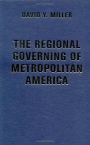 Cover of: The Regional Governing of Metropolitan America