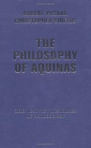 Cover of: The philosophy of Aquinas