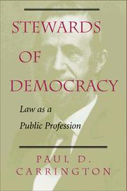Cover of: Stewards of Democracy | Paul D. Carrington