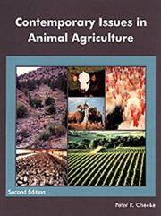 Cover of: Contemporary issues in animal agriculture