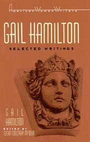 Cover of: Gail Hamilton: selected writings
