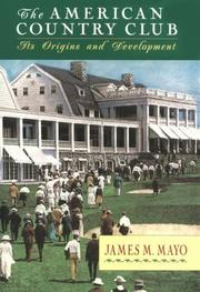 Cover of: The American country club