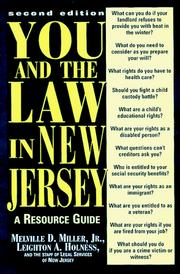 Cover of: You and the law in New Jersey | Melville D. Miller