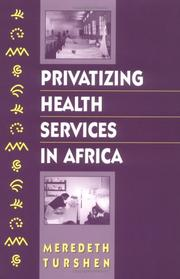 Cover of: Privatizing health services in Africa