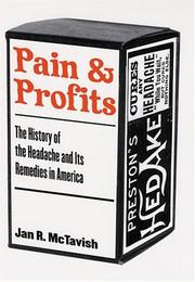 Cover of: Pain and Profits | Jan R. McTavish