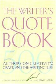 Cover of: Writer's Quotebook