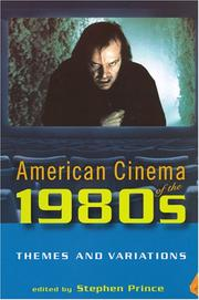 Cover of: American Cinema of the 1980s