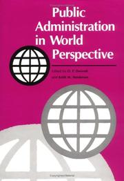 Cover of: Public administration in world perspective