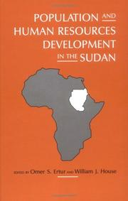 Cover of: Population and human resources development in the Sudan