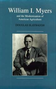 Cover of: William I. Myers and the modernization of American agriculture