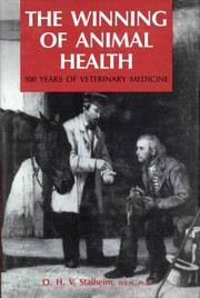 Cover of: The winning of animal health | Ole H. V. Stalheim