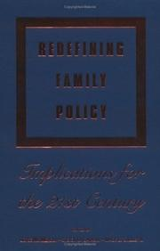 Cover of: Redefining Family Policy |