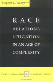 Cover of: Race relations litigation in an age of complexity