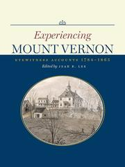 Cover of: Experiencing Mount Vernon |