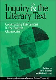 Cover of: Inquiry and the Literary Text |