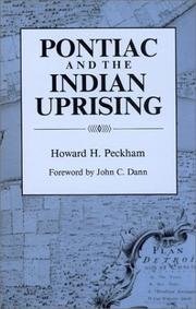 Cover of: Pontiac and the Indian uprising